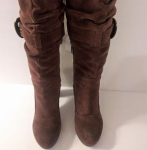 Womens Nine West Vintage brown suede tall boots